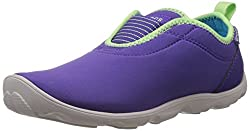 Crocs Womens Ultraviolet and Pearl White Canvas Sneakers - W6