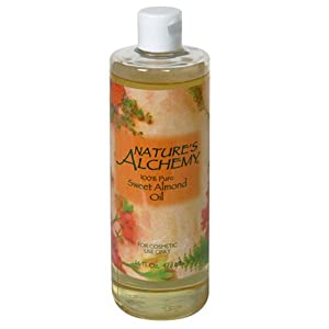 Nature's Alchemy Sweet Almond Oil, 100% Pure, 16 fl oz (473 ml)
