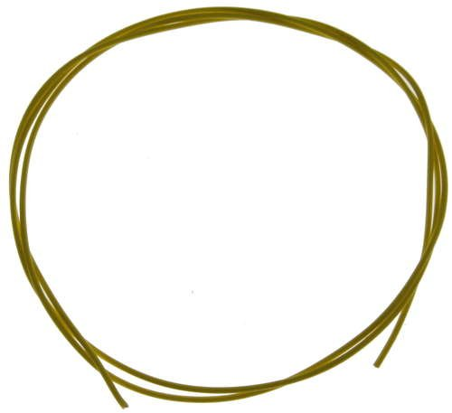 ♥ Teflon Coated Wire for 3D Printer - 18 AWG, Yellow, 1 Meter