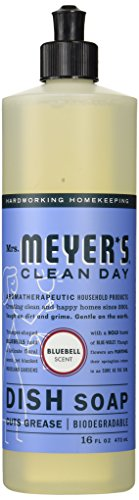 Mrs. Meyer's Liquid Dish Soap, Bluebell, 16 Fluid Ounce (Meyers Dish Liquid compare prices)