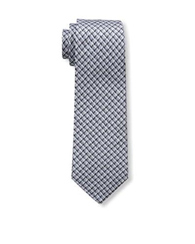 Valentino Men's Honeycomb Tie, Dark Navy/Grey