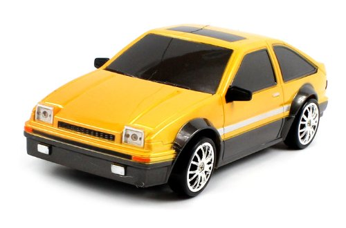 Electric Full Function 1:24 Toyota Trueno AE 86 RTR RC Drift Car Remote Control w/ Rechargeable Batteries and Spare Tires
