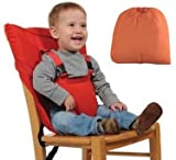 Meded Portable Baby Safety Chair/ High Chair Harness Seat Belt - Orange