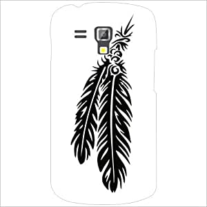 Samsung Galaxy S Duos 7582 Back Cover - Lazer Print Feather Desiner Cases