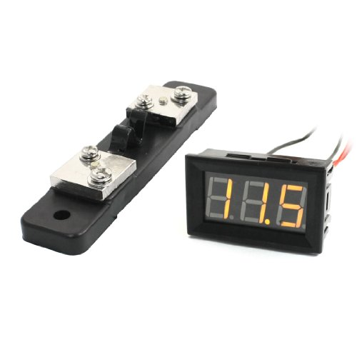 Panel Mounted 0-20A Yellow Lcd Display Ampere Meter Ammeter Amp Gauge