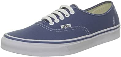 Vans U Authentic, Baskets mode mixte adulte - Bleu (Navy), 34.5 EU