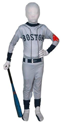 Boys Boston Red Sox Baseball Sports Halloween Costume (Atlanta Braves Skin Suit Kids Costume)