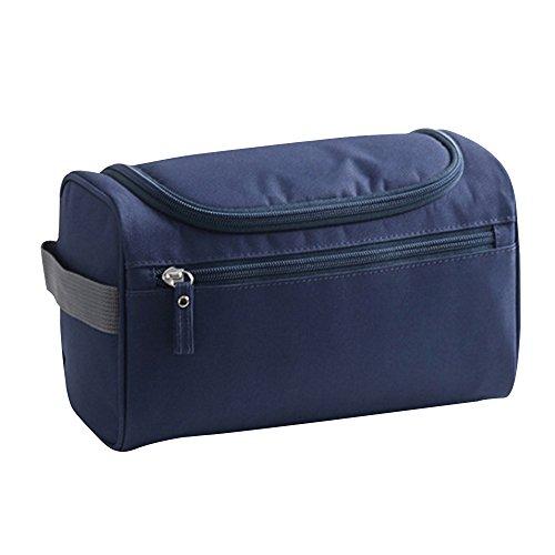 Eizur Unisex Cosmetici Borsa Sacchetto della lavata Impermeabile Beauty Case Viaggio Borsa Trucco di Caso Organizzatore cosmetici Outdoor Viaggio Accessori Bagno con Appendere Gancio - Blu scuro