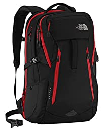 The North Face Router Backpack TNF Black/Pompeian Red
