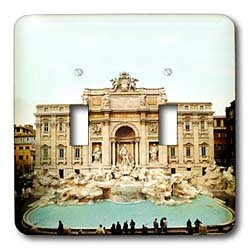 Vacation Spots - Trevi Fountain Italy - Light Switch Covers - double toggle switch