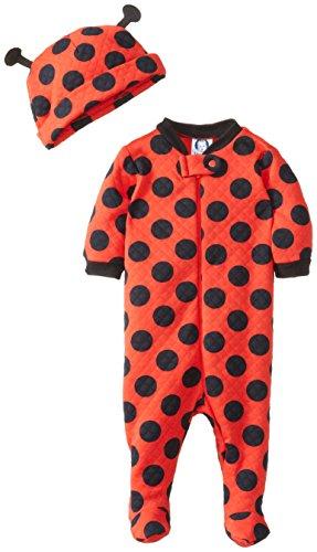 Gerber Baby-Girls Newborn Character Sleep N Play And Cap, Ladybug, New Born