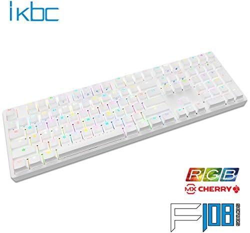 ikbc RGB LED独Cherry軸採用 112フルキー メカニカルキーボード USB接続 Nキーロールオーバー対応 ゲーミング対応 日本語配列(カナ印字無) ホワイト (赤軸)