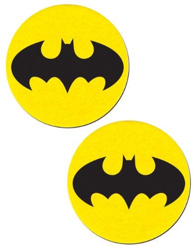 The Bat Nipple Pasties Yellow & Black Bat Pastease O/S