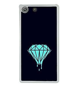 Printvisa Melting Diamond 2D Hard Polycarbonate Designer Back Case Cover For Sony Xperia M5 Dual :: Sony Xperia M5 E5633 E5643 E5663