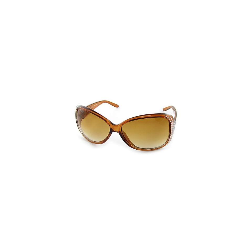 ae699312539 Como Gradient Amber Lens Glittery Holes Decor Sunglasses for Ladies ...