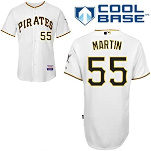 Russell Martin Pittsburgh Pirates Home Authentic Cool Base Jersey by Majestic by Majestic