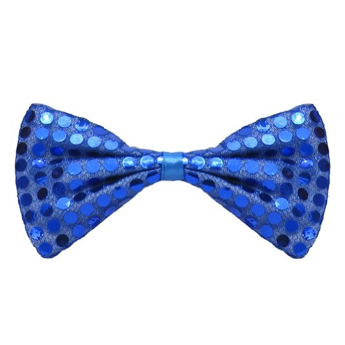 SeasonsTrading Blue Sequin Bow Tie ~ Fun Costume Party Accessory (STC12062)