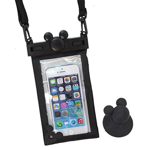... proof Case Black Mickey Neck strap iPhone Smartphone Japan   eBay