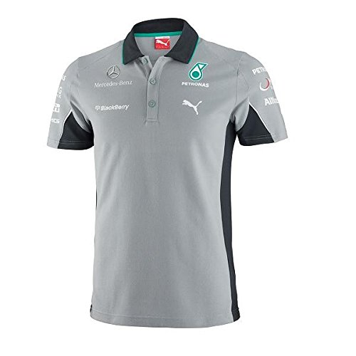 【 Mercedes AMG 】メルセデス F1 Team オフィシャル レプリカポロシャツ2014 (L身幅:56cm 着丈:73cm)