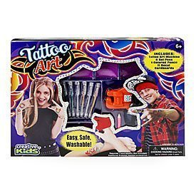 Tattoo Body Art with Realistic Vibrating Tattoo Machine for Kids Easy