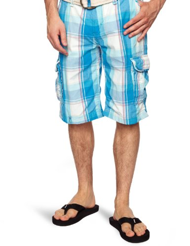 Kaporal Wish Men's Shorts Blue Check W34 IN