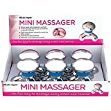 41jWTinqkeL. SL160  New Mitaki Japan 6pc Personal Battery Powered Massager In Countertop Display Silver Tone Abs Body