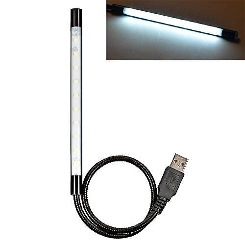 Mudder® Portable Usb Flexible Stick Dimmable Touch Switch Led White Light Lamp For Laptop Computer Pc