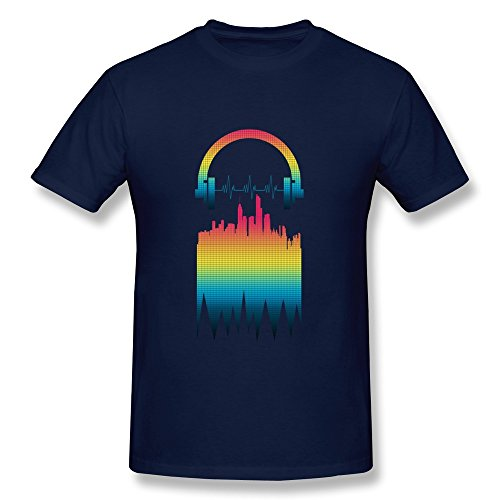 Personalized Tees Vintage Skyscraper Beat Headphone Dj Music Rock Solid