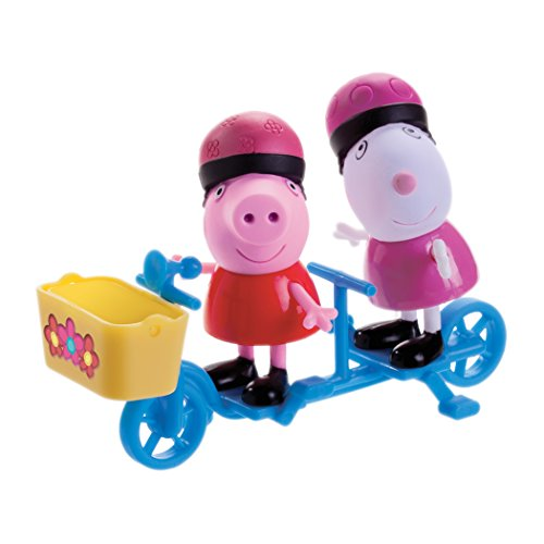 Zoofy International Peppa Pig - Peppa & Suzy Sheep Bicycling Together Play Set - 1