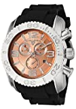 Swiss Legend Men's 20067-09 Commander Collection Chronograph Rose Dial Black Rubber Watch