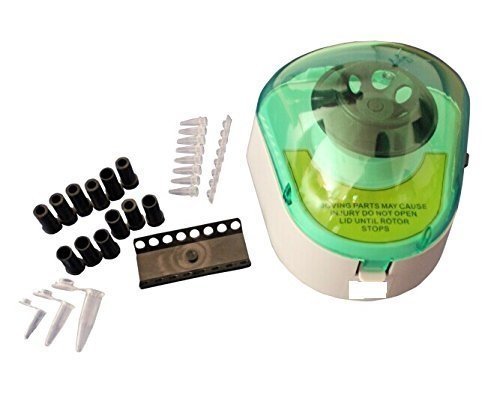 Mini Desk-top Centrifuge with adapters for Different centrifuge tubes and PCR tubes, 4000rpm (Centrifuge Mini compare prices)