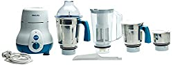 Philips HL1645 750-Watt 3 Jar Super Silent Vertical Mixer Grinder+Blender jar with Fruit Filter Blue
