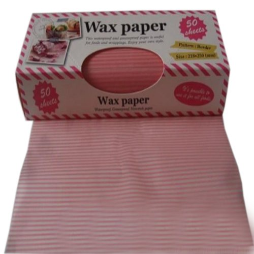 bake with wax paper