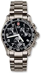 Victorinox Swiss Army Men's 241171 Chrono Classic Titanium Watch with Black Dial