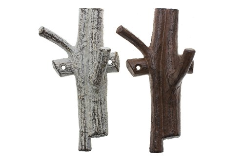 Cast Iron Branch Wall Hook Wall Mounted Decorative
