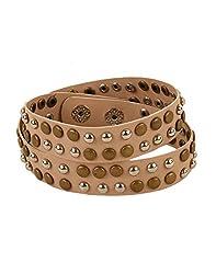 Tiekart Brown Embelished Men Bracelet/Cuffs