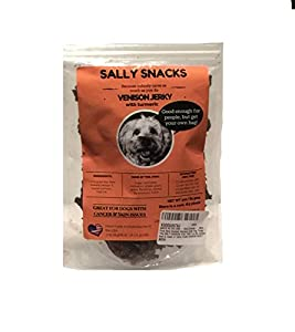 MADE IN THE USA - Sally Snacks - 100% Pure New Zealand Venison Jerky Dog Treats * The ONLY VENISON DOG TREAT on the market that is made of 100% PURE VENISON MEAT! NO FILLERS! All meat! All the time!