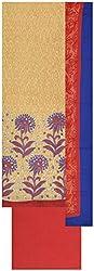 Laxmi Creations Women's Silk Unstitched Dress Material (Beige)