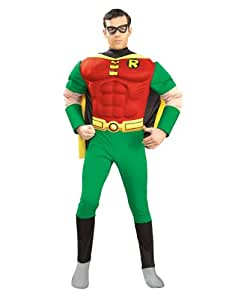 """Teen Titans Costume, Mens Robin Muscle Chest Outfit, Small, CHEST 34 - 36"""", WAIST 26 - 28"""", INSEAM 33"""""""