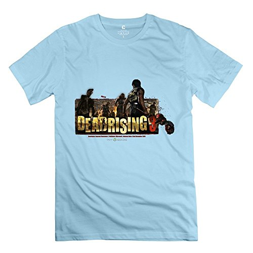 Dead Rising Nerd Casual SkyBlue T Shirts For Adult Size XL (Dead Rising Merchandise compare prices)
