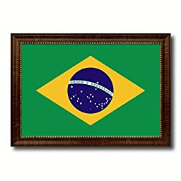 Brazil National Country Flag Print On Canvas Design Primitive Wall Art Home Decor Office Interior Souvenir Gift Ideas, 23\