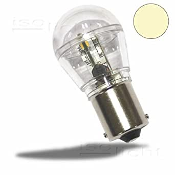 isolicht led ba15s birne 10 30v dc 16smd 0 7 watt warmwei beleuchtung. Black Bedroom Furniture Sets. Home Design Ideas