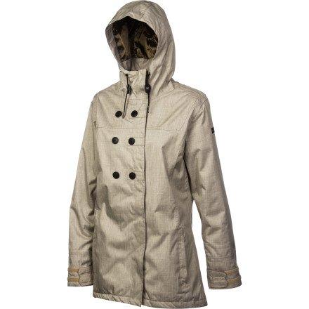 Cappel Damen Funktionsjacke Thunder Jacket mit Kapuze British Khaki Größe M