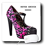 mp_62278_1 Florene Décor II - Message With Cool Pink n Black Cheetah High Heel - Mouse Pads