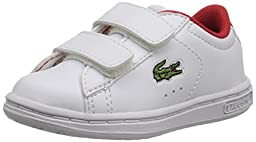 Lacoste Carnaby Evo ADV Sneaker (Toddler/Little Kid/Big Kid), White, 7 M US Toddler
