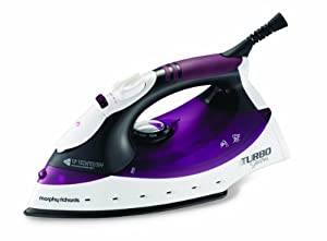 Morphy Richards Turbosteam 40699 Steam Iron Diamond Soleplate, Plum