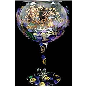 Mothers like Wine... Design - Hand Painted - Grande Goblet - 17.5 oz..
