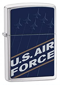 Zippo Military Air Force Blue Pocket Lighter