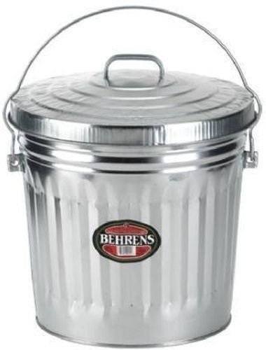New Belhrens 6110 10 Gallon Galvanized Garbage Trash Can & Lid Usa Sale 6231500 (10 Gallon Galvanized Trash Can compare prices)