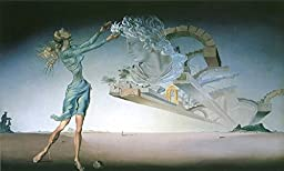 36W x 21H Mirage by Salvador Dali - Stretched Canvas w/ BRUSHSTROKES